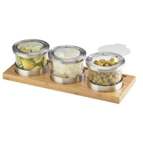 Bamboo Chilled Jar Display - Cal-Mil Plastic Products Inc
