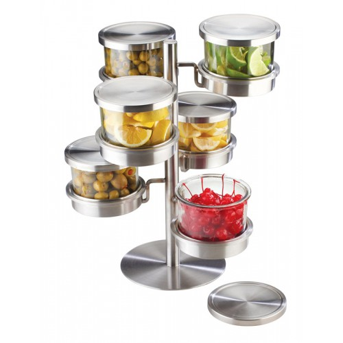 6 Tier Revolving Chilled Mixology Display - Cal-Mil Plastic Products